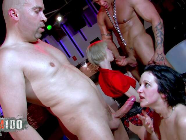 Brutal sex orgy in a Barcelona